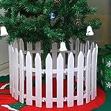 Zaun,Setsail 120 cm Frohe Weihnachten Kunststoff Garten Zaun Baum Blume Happy Birthday Geschenk Dekoration