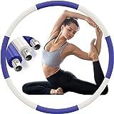 Aoweika Hula Hoop Reifen Fitness Erwachsene 1.3kg, Aktualisiert Edelstahl Gewicht Metall Fitness Sport Reifen Hoop zur Gewich