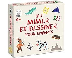 KANGUR Jeu Mimer et Dessiner pour Enfants Jeu de Plateau Familial Jeux de Société pour Enfants et Adultes Quiz Jeu de Cartes