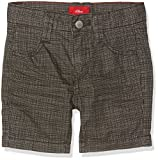 s.Oliver Jungen Shorts Bermuda, Grau (Grey Check 94N0), 98 (Herstellergröße: 98/REG)