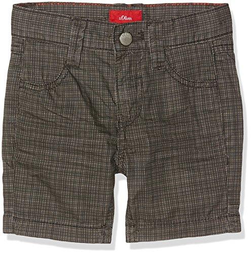 Check Bermuda Shorts (s.Oliver Jungen Shorts Bermuda, Grau (Grey Check 94N0), 122 (Herstellergröße: 122/SLIM))