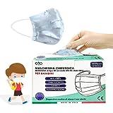 HOME KOKO LOOK 50 Mascarillas quirúrgicas para niños - Mascarillas desechables de 3 capas - Marcado CE - Tipo IIR