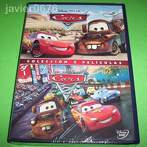Cars 1 y Cars 2 DVD en un solo estuche 2 discos