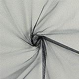 Fabulous Fabrics Tüll Klassisch schwarz — Meterware ab