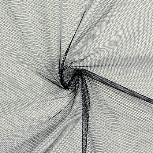 Fabulous Fabrics Tüll Klassisch schwarz - Meterware ab 0,5m - zum Nähen von Röcke, Kleider und Weihnachten