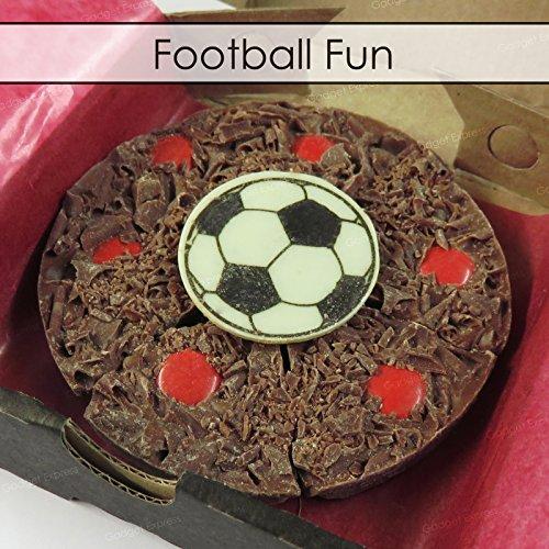 Gourmet Chocolate Mini Pizza Belgian Chocolate Football 4'' Pizza