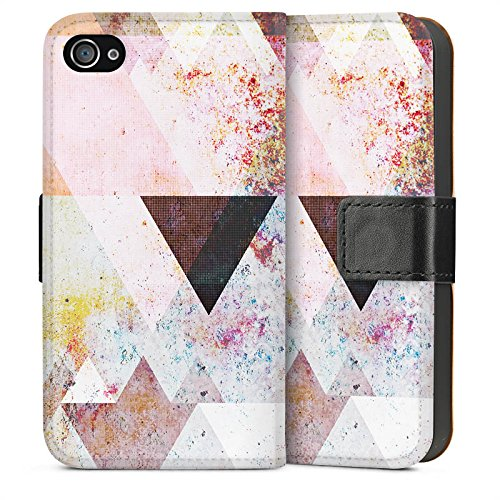 Apple iPhone 5s Housse étui coque protection Triangles Triangles Triangles Sideflip Sac
