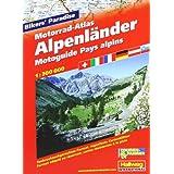 Motorrad-Atlas Alpenländer: Massstab 1:300 000 Tankrucksackgerechtes Format, auf 71 regenfesten Kartenblätter