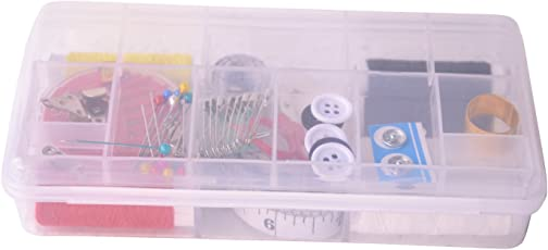 Pindia Multipurpose Rectangular Sewing Tailoring Kit with Thread, Needle,Trimmer,Threader & Other Accessories.
