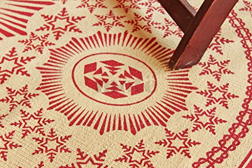 80 x 150 cm Alfombra de tejido reversible tejido 100% material orgánico con tintes vegetales.Tapete. 2'8' x 5' Beige/Red Printed Area Rug, Style: 2018