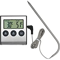 Termometro Cucina Digitale a Sonda,KKmoon BBQ Termometro per Griglia Termometro per Alimenti 0~250 ° C con Funzione…
