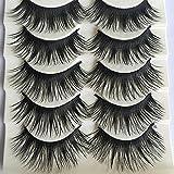 DAEDALUS� 5 Pairs Natural Long Fake Eye Lashes Thick False Eyelashes Black Makeup Tool