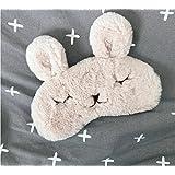 Haahaha Lovely réglable Lapin Mignon Masque de sommeil Masque pour les yeux (Marron clair)