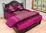 Rangsthali Gold printed Satin Double Bed...