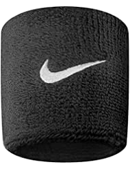pulseras de Nike (un par) Un tamano Negro / blanco