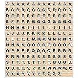 Madholly 169 piezas de madera letras scrabble letras scrabble letras madera, educación preescolar para niños, juegos significativos para amigos y familiares