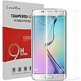 Lanhiem Vetro Temperato Samsung S6 Edge Plus[Copertura Completa][3D Curvo][AntiGraffio][Garanzia a Vita] Senza Bolle,Pellicola Temperata Compatibile con la Cover S6 Edge,Trasparente