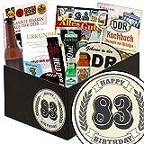 83. Geburtstagsgeschenk | Männer Box | inkl Markenbuch | 83-Geburtstag lustige Geschenke Frau | mit Bier, Kondomen und mehr