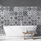 15 (Piezas) Adhesivo para Azulejos 20x20 cm - PS00096 - FES - Adhesivo Decorativo para Azulejos para baño y Cocina - Stickers Azulejos - Collage de Azulejos