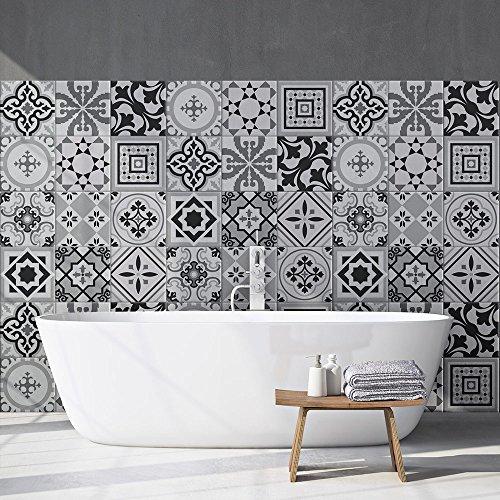 81 Adhesivo para azulejos 10x10 cm - PS00096 - Fes - Adhesivo decorativo para azulejos para baño y cocina - Stickers azulejos - Collage de azulejos