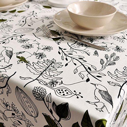 Maoge tovaglia per la casa tovaglia vintage tovaglia tessuto cotone lino tabella di tè panno di tabella oblunga-vari stili.-c 140x250cm(55x98inch)