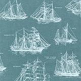Schiff Stoff–0,5Meter–Schooners Masted auf