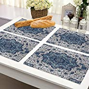 Brick Home Flower Ethnic Digital Printed Table Mat (Set of 4) (Multicolor)