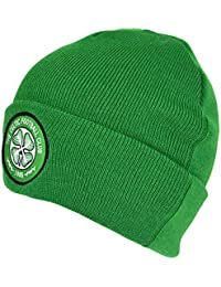 Celtic FC Official Football Crest Cuffed Knitted Winter Beanie Hat e088e98cd