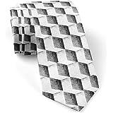[Cubi 3D disegnati a matita] Cravatta per uomo, Novità Cravatte da collo conversazionali - Regalo perfetto