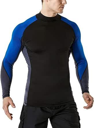 TSLA Men's UPF 50+ Long Sleeve Rash Guard UV/SPF Quick Dry Swimming Shirt Water Surf Swimming Shirts