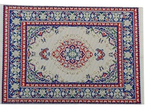 nicebuty Puppenhaus Miniatur-Dekoration Boden Teppich Teppich farbenreiche 14?x 10?cm (10 X Teppich 14)