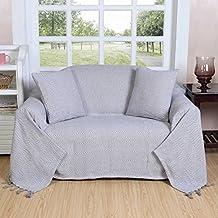 homescapes plaid ou jet de canap halden uni gris motif chevrons en coton - Plaid Canape