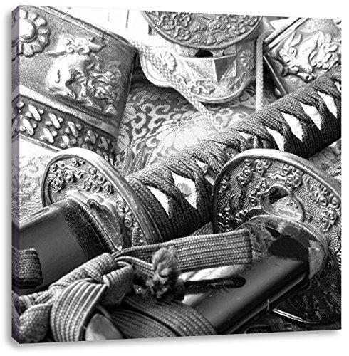 alter Samurai-Meister vor Horizont Leinwandbild Wanddeko Kunstdruck