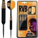 Target Raymond van Barneveld Darts–RVB schwarz Messing Barney 24g–mit Darts Ecke gebogen Kugelschreiber
