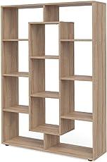 VICCO Raumteiler 11 Fächer Bücherregal Standregal Aktenregal Hochregal Aufbewahrung Regal