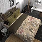 Boutique Living India Tesserae 400TC Sateen Printed King Size (274 cm x274 cm) Bedsheet with 2 Pillow Covers