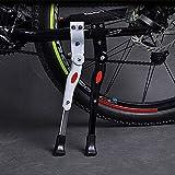 Aluminiunlegierung Fahrradständer, Joymixx MTB Seitenständer Universal Fahrrad Ständer mit Anti-Rutsch Gummifuß Verstellbar für 22 24 26 28 Zoll Mountainbike, Rennrad, Faltrad, Fahrradzubehör, JM03009 (Weiß)