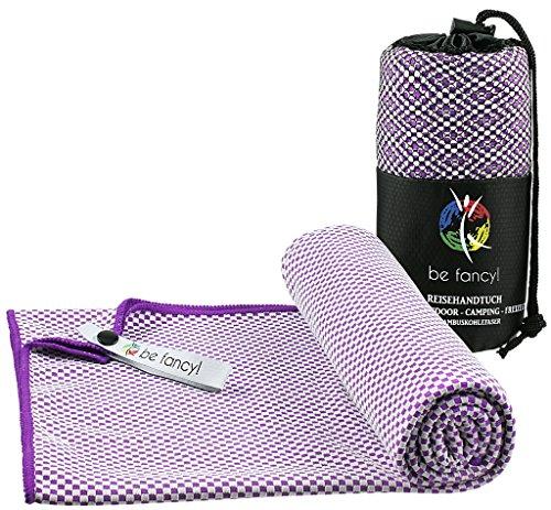 be fancy! ♻ Bambus Reisehandtuch Outdoor - leicht, saugfähig, antibakteriell & schnelltrocknend - besser als herkömmliche Microfaser Towel- Handtuch ideal für Reise, Sport, Wandern, Camping