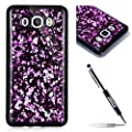 Samsung Galaxy J7 2016 Case [with 1 Black Glitter Bling Stylus Pen], JAWSEU Luxury Bling Shiny Sparkle Glitter Crystal [Slim Fit] Shockproof Shining Fashion Style Soft Flexible TPU Silicone Gel Protective Shell Case Cover For Samsung Galaxy J7 2016