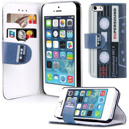 Apple iPhone 5 / 5s Handyhülle inklusive Displayfolie England Kassette