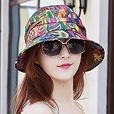 LIUXINDA-MZ Hat, Female Nationality, Wind, Multi-Functional Scarf Cap, Baotou Ear Cap, Soft Edge, Personalized Cap, Cap,Blue/A