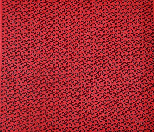 """Rouge Pur Couture Résumé de tissu de coton imprimé 41 """"Wide Artisanat Tissu par le chantier"""