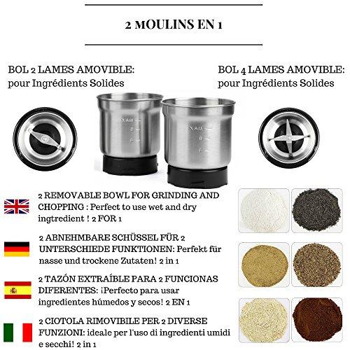 – VeoHome Macina Caffe elettrico semi di lino,oleosi,papavero e spezie comprare on line