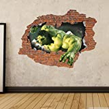 Decor Kafe Wall Sticker( Brick Hulk Side 1 3D Art Sticker Pvc Vinyl,73 Cm X 55 Cm)