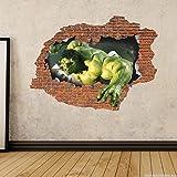 Decor Kafe Wall Sticker( Brick Hulk Side 1 3D Art Sticker Pvc Vinyl,73 Cm X 55 Cm)