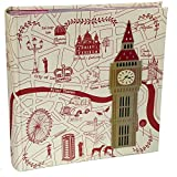 Kenro London Highlights Design Memo Foto Album zu halten 200 Fotos 15,2 x 10,2 cm/10 x 15 cm – hol112