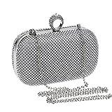 Multiware Sac À Main Diamant Strass Bourse Scintillante Incrusté Avec Chaîne Pour Soirée Ou Mariage