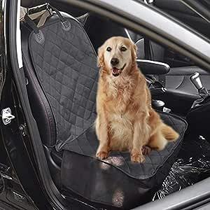 Pettom Autositzbezüge Hund Sitzbezug Hundetransport Vordersitz Nonslip Wasserdicht Verstellbar Autoschutzdecke Hundedecke Sitzbezug Schwarz 52cm X 102cm Haustier