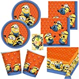 37-teiliges Party Set Minions Teller, Becher, Servietten, Tischdecke