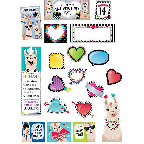 Bold & Bright Happy va-llama-tine 's Day Bulletin Board Mini, CTP (3117) ()